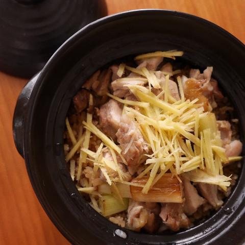 東伯どりと白ネギの土鍋ご飯