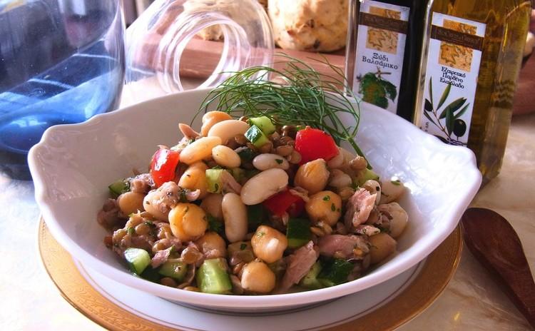 色々なお豆とツナのマリネ