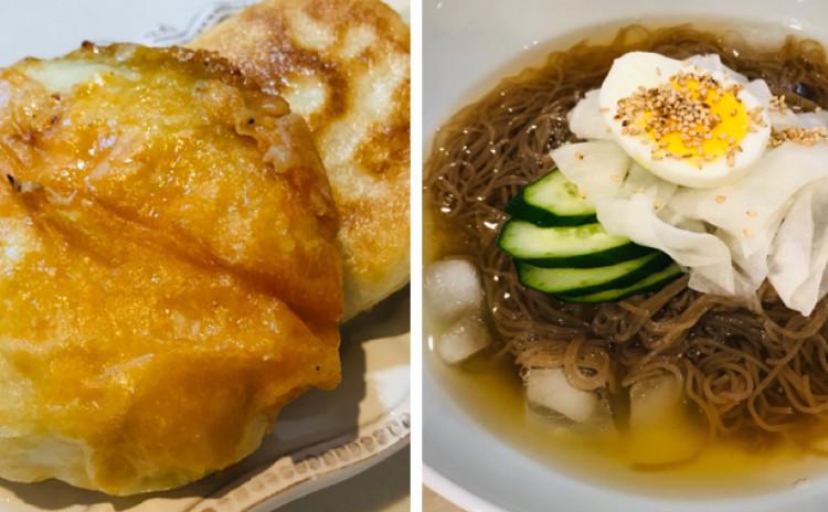 ビビン麺(비빔냉면)冷麺(냉면.ベジタリアン👌🏽)ホットク(호떡)韓国料理,[冷麺スープにお肉使用不]