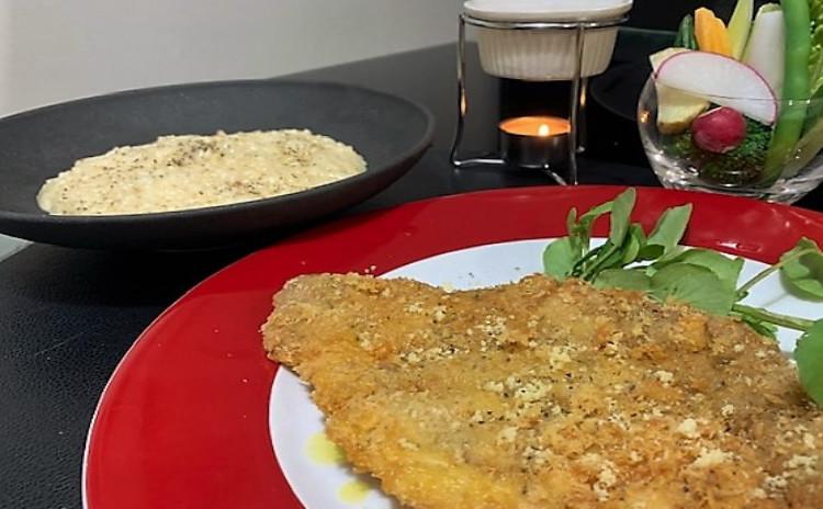 自慢できる本格チーズリゾット&ミラノ風カツレツ!極旨バーニャカウダもご一緒に♪