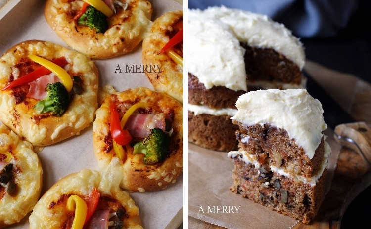 【ランチ付】素朴な中にも複雑な味わいの英国菓子ブリティッシュ・キャロットケーキと一押しのお惣菜パン!彩り野菜のベジブランチ