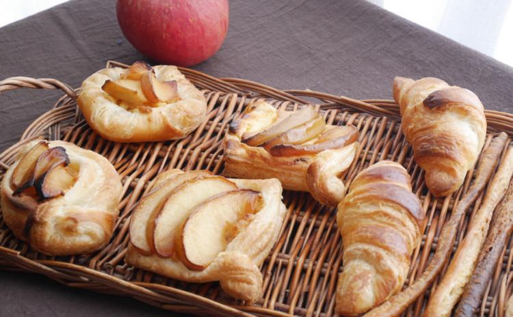 ★自家製酵母:りんご酵母★クロワッサン&アップルデニュッシュ~紫芋~