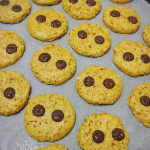 米粉とオートミールのドロップクッキー