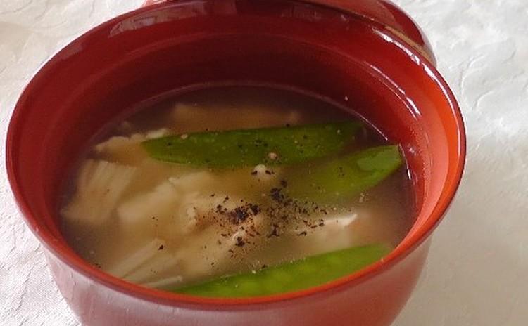 豆腐のおすまし黒コショウ風味