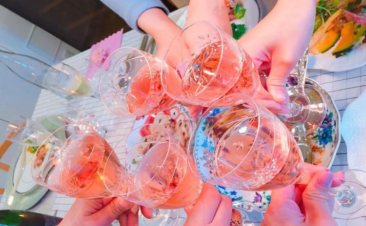 ロゼワインで彩る春のパーティー        料理レッスン