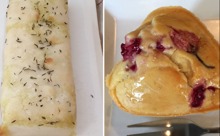 米粉レッスン★米粉のフォカッチャと桜とベリーのしっとりケーキ★