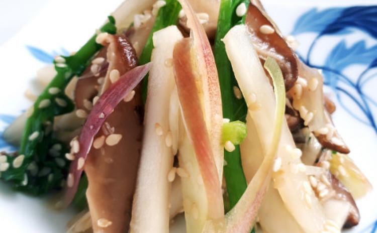 椎茸とかぶのごま浸し(単品定価:4,000円)