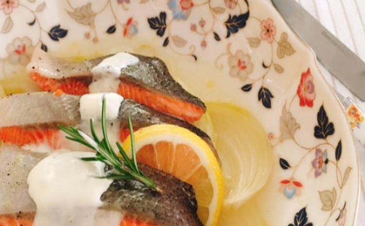 鮭の香草蒸