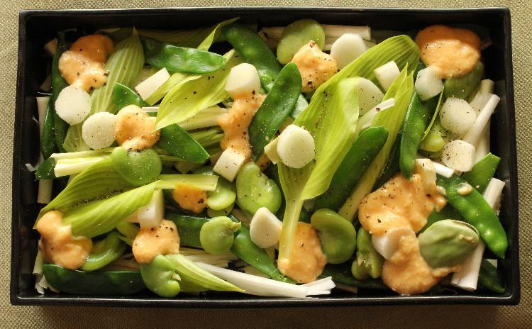 春の恵みを味わう4品!ほろ苦山菜、柔らか春きゃべつ!