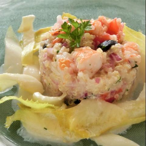 魚介とキヌアのサラダ