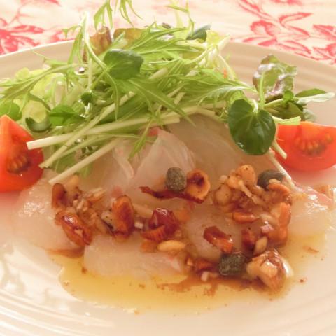 鯛のマリネ ナッツソース