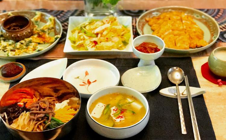 韓国料理の定番ピビンバとコッチョリ(浅漬けキムチ)豚肉のジョンを作りましょう!