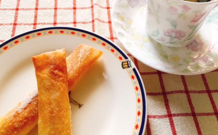 干し芋とチーズの春巻き