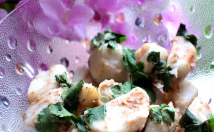 大野芋(里芋)のインド風サラダ