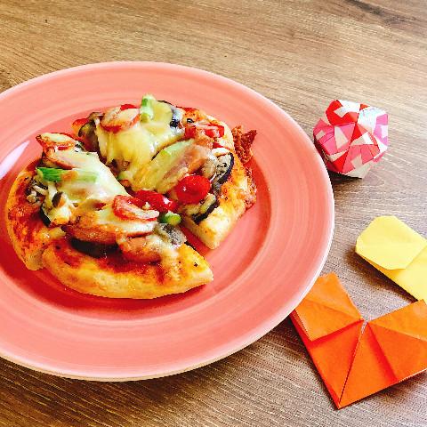 子供とコネコネ手作りピザ