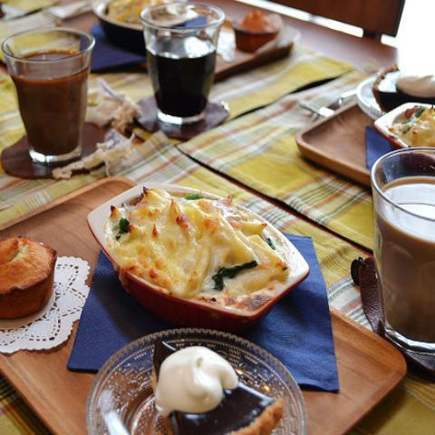 ・濃厚なめらかチョコタルト&ココナッツのフィナンシェ&牡蠣のホワイトグラタン