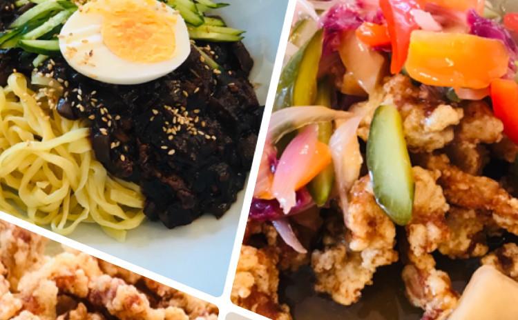 タンスユク탕수육ジャジャン麺짜장면(韓国中華料理、人気リクエストメニュー)