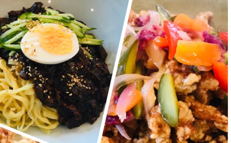 ジャジャン麺자장면タンスユク탕수육(韓国中華料理、リクエスト)