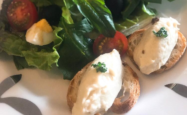 ブランダード ・春野菜のフリカッセ・苺のアイスクリーム 〜春のおもてなしフランス料理〜