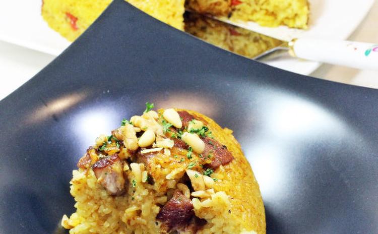 アレンテージョ風マクルーバ~あさりと豚のライスケーキ