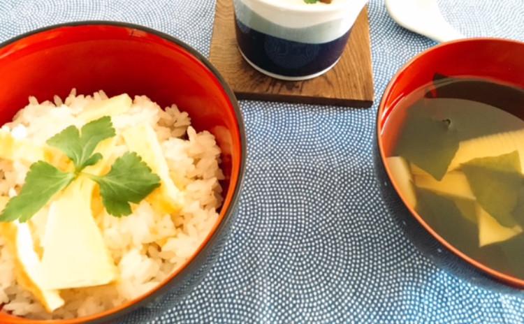 春を満喫!香り豊かな筍ご飯・若竹汁・鰹のペッパーソテー・筍の春巻き・簡単大根餅・国産レモンゼリー