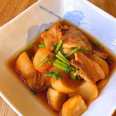 かぶと豚バラの煮物