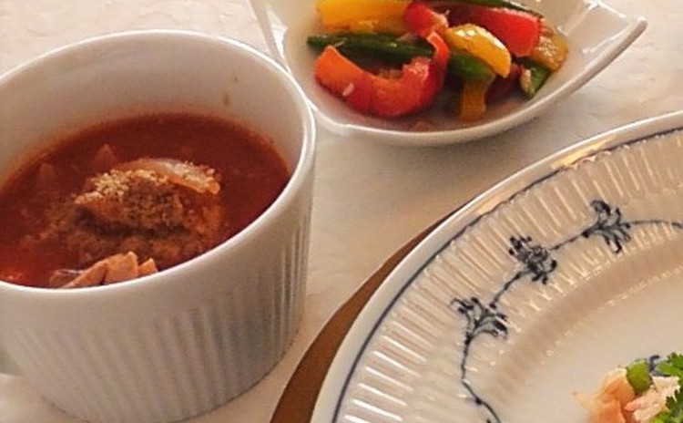 鶏の和風トマトシチュー