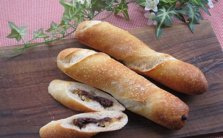 国産小麦とホシノ天然酵母でフランスパン「ミニバゲット」「チーズフランス」「チョコとオレンジのスティック」