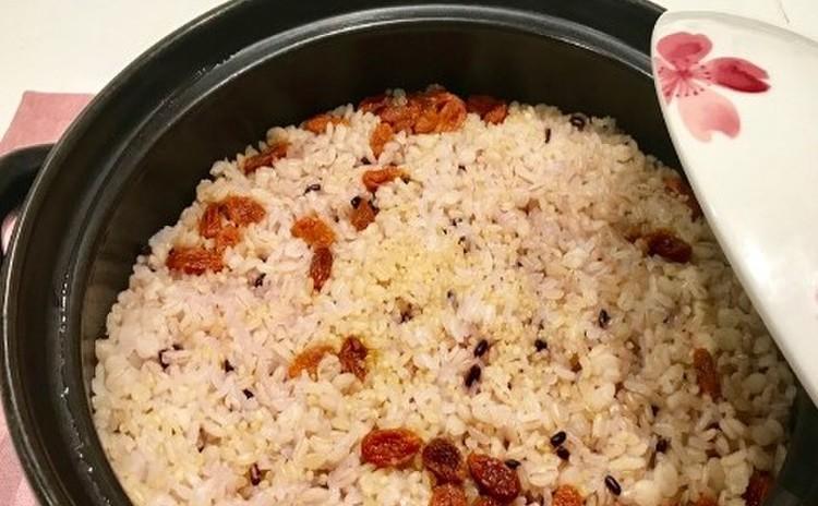 土鍋で炊く雑穀米ご飯