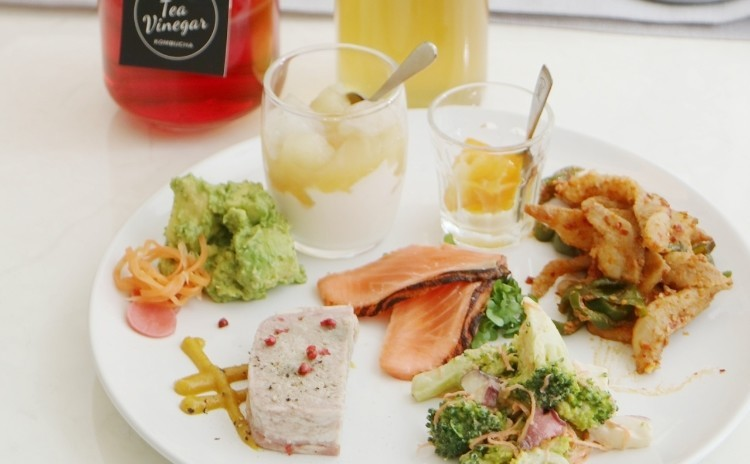 kombucha株分けレッスン(お茶を発酵させた飲料、調味料レッスン)