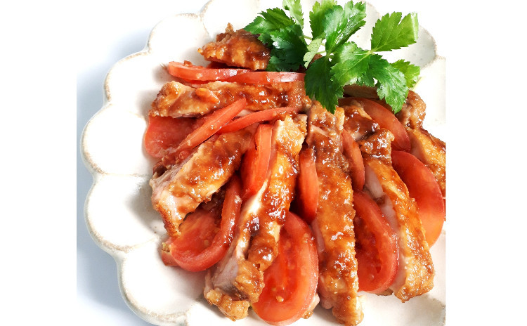【砂糖不使用★おうち和食】①鶏の照り焼き、②グミみたいな雷こんにゃく、③長芋の卵黄和え