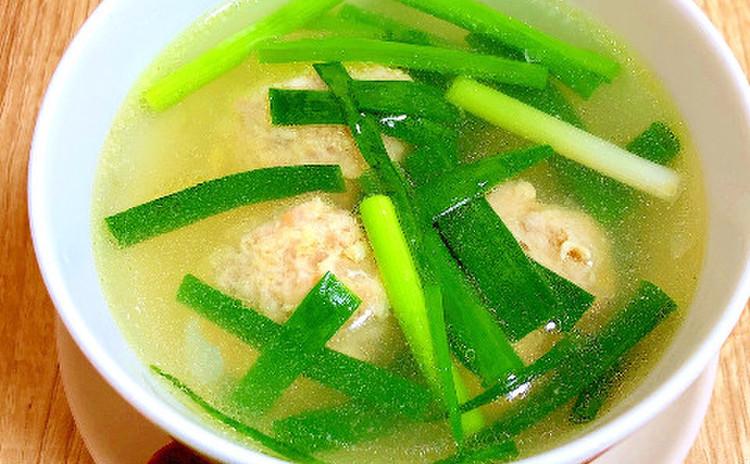 青ネギと生姜のスープ