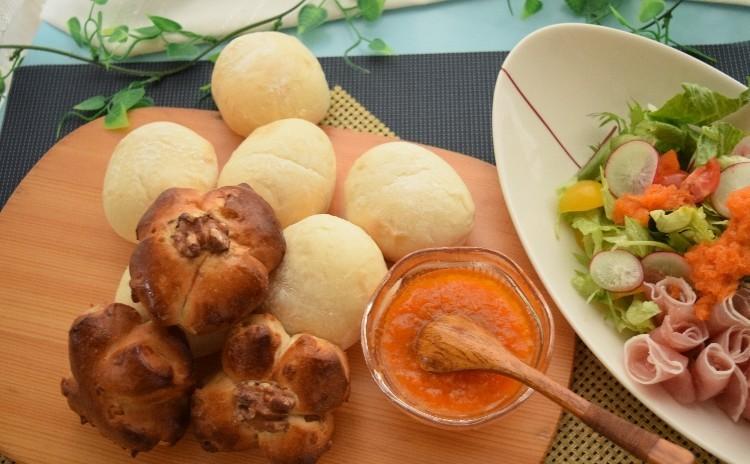初心者さんのパン作り♪お任せメニューでお得なペアレッスン(*^-^*)パン2種類・お土産あり・ランチ付き♡