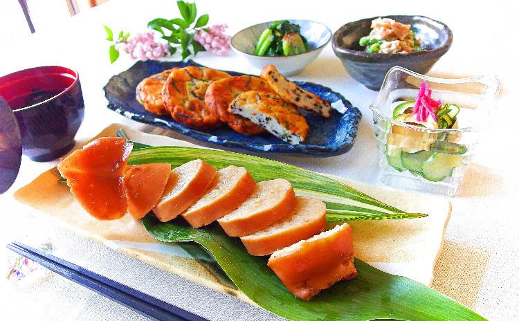 クスパで500円引き イカ飯とふんわり手作りさつま揚げ、あると嬉しい基本の野菜小鉢3種