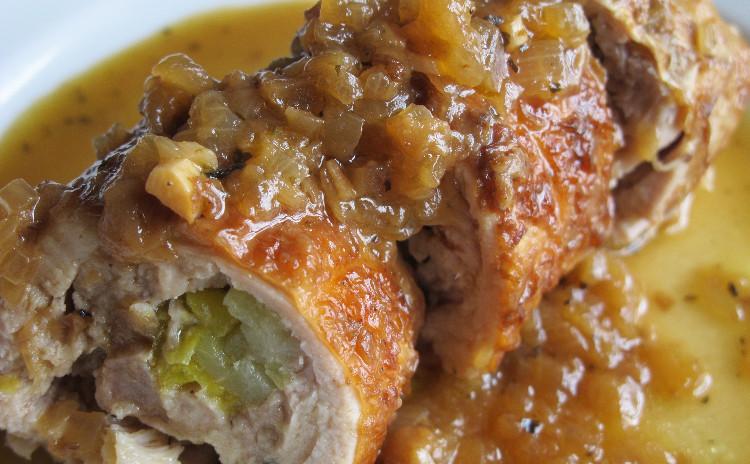 エビとポルチーニのリゾット、チキンロールのマスタード風味、オレンジ風味のリコッタチーズケーキ