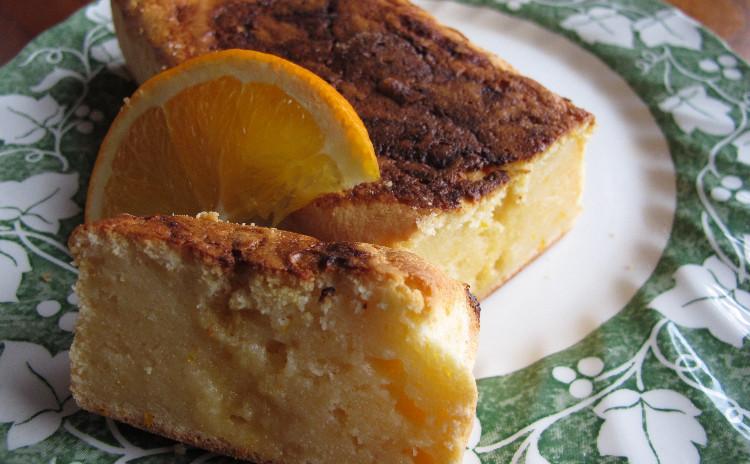 焼タラコとイカのスパゲッティ、甘エビとアボカドのタルタル、オレンジ風味のリコッタチーズケーキ