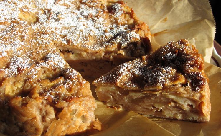 ナポリ風ラザニア、ミラノ風カツレツ、パンとリンゴのケーキ