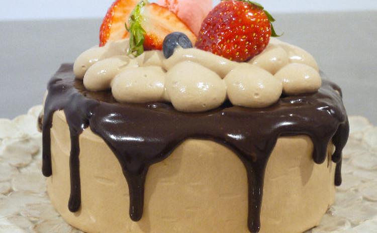 チョコレートクリームのたらりんケーキ