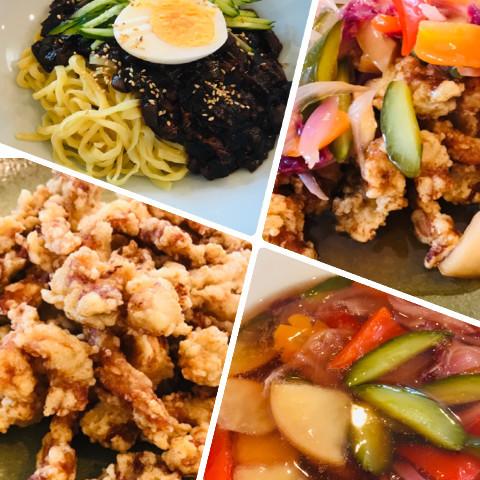 ジャジャン麺、タンスユク짜장면.탕수육