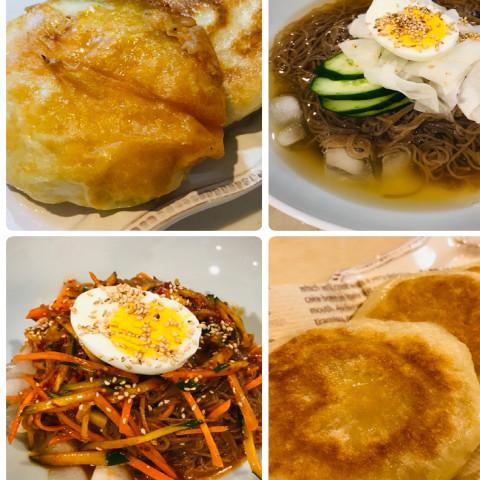 ホットク、冷麺、호떡.냉면.비빔면