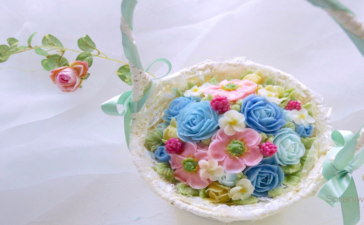 まるで生花のような透明感♡テキスト付きフラワーケーキ基礎レッスンⅡ