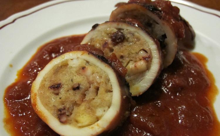 イタリア風タコ飯、イカの詰め物のトマト煮、ブルッティマボー二