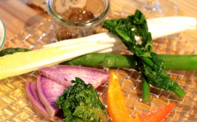 春野菜の特別純米酒粕バーニャカウダソース添え