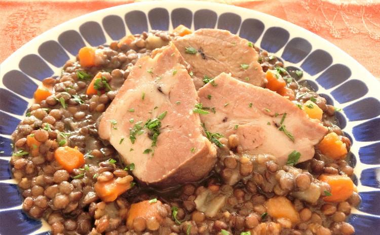 塩豚の作り方と豆の煮込みをマスター!前菜盛り合わせ、いちごのババロア