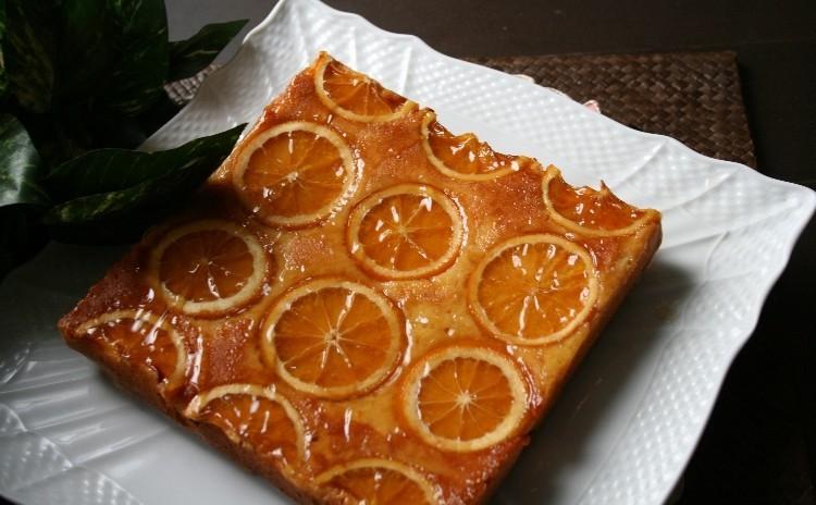 「オレンジスクエアケーキ」18㎝角型で1台焼きます