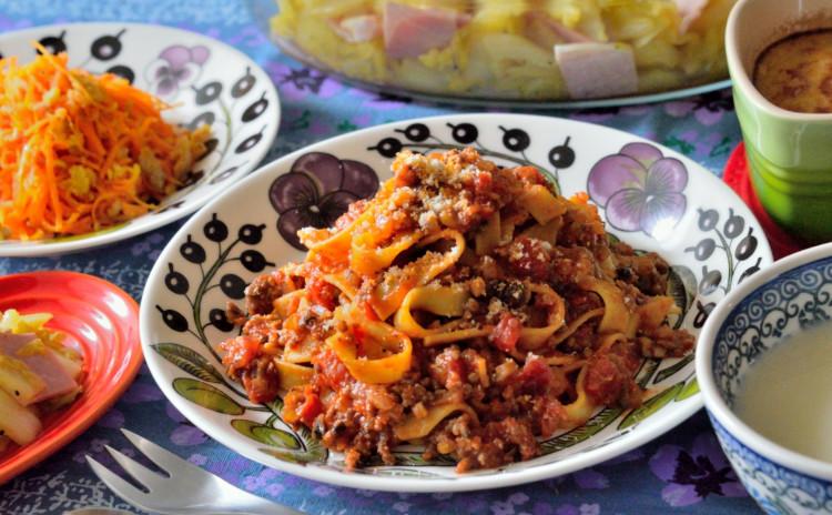 【追加開催】自家製ミートソースで絶品ボロネーゼを♡お野菜たっぷりの洋食献立です♪