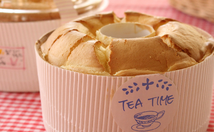 レモンシフォンケーキ♡紅茶とプルーンのフィナンシェ&ババロア・バニーユ で 爽やかな季節のティータイム♪