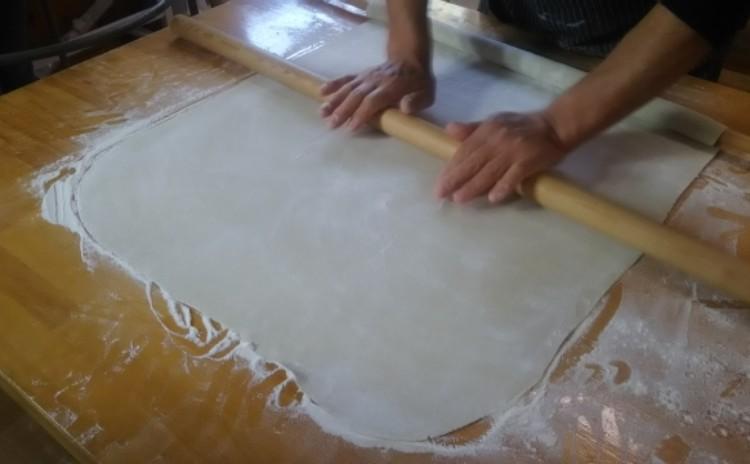 ◆手打ち蕎麦 中級編 二八そば600g×2回連続打ち 麺棒3本使用