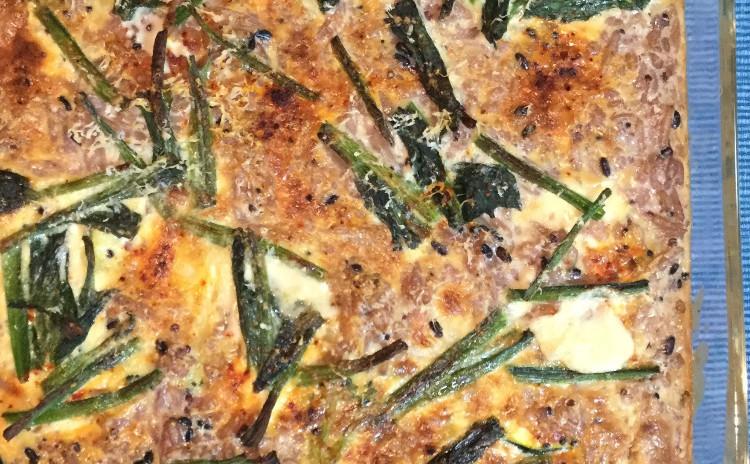 自家製ソーセージ2種+野菜と雑穀のヘルシーグラタン。