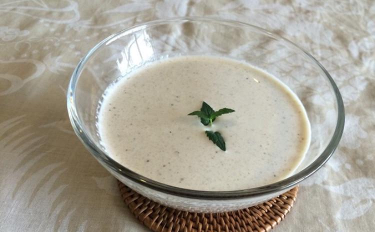 エビのフレンチカレー・焼き茄子の冷製クリームスープ・ジャスミンのポドテ 〜ルーを使わないカレーと初夏のおもてなし〜